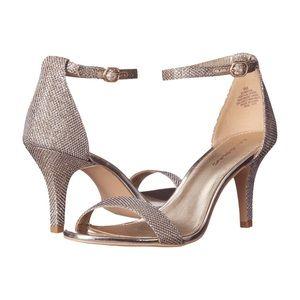 Bandolino Madia Ankle Strap Peep Toe Heels  9.5